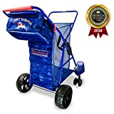 2018 Tommy Bahama Beach Cart - Wide Sand Wagon Wheeler with All Terrain Big Wheels - Buggy that Holds 4 Chairs and Umbrella