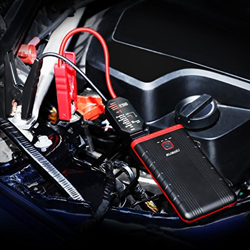 Suaoki U3 400A Peak Jump Starter Lithium ion Phone Charger and Battery Booster Power Pack for Automotive Truck Motorcycle Boat by SUAOKI (Image #4)