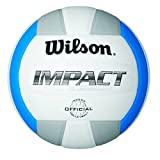 Wilson WTH4001 Impact Volleyball-White/Blue