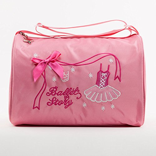 ids Gymnastics Dance Ballet Swim Duffle Bag Embroidered Tote (Venezia Canvas Duffle Bag)