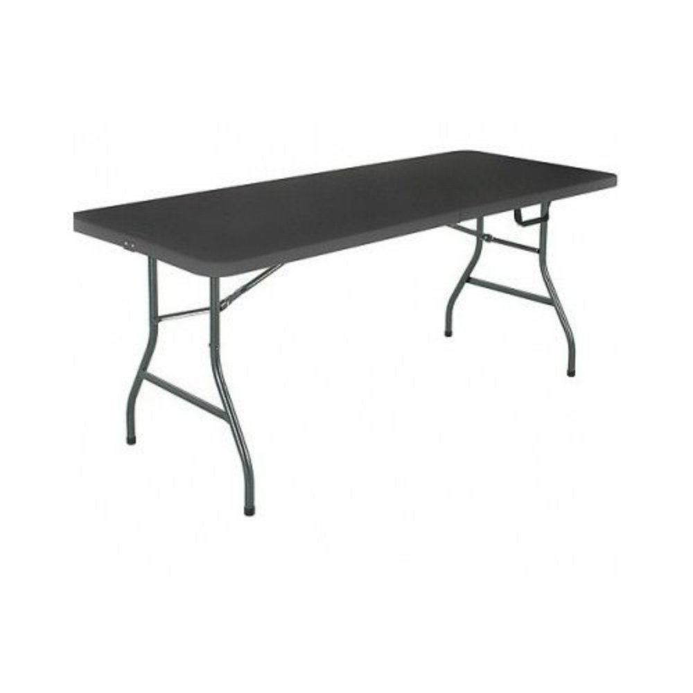 Mainstays 6 Centerfold Folding Table, White or Black Black