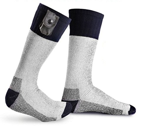 Warmawear Battery Heated Socks with Reflective Strip (Large)
