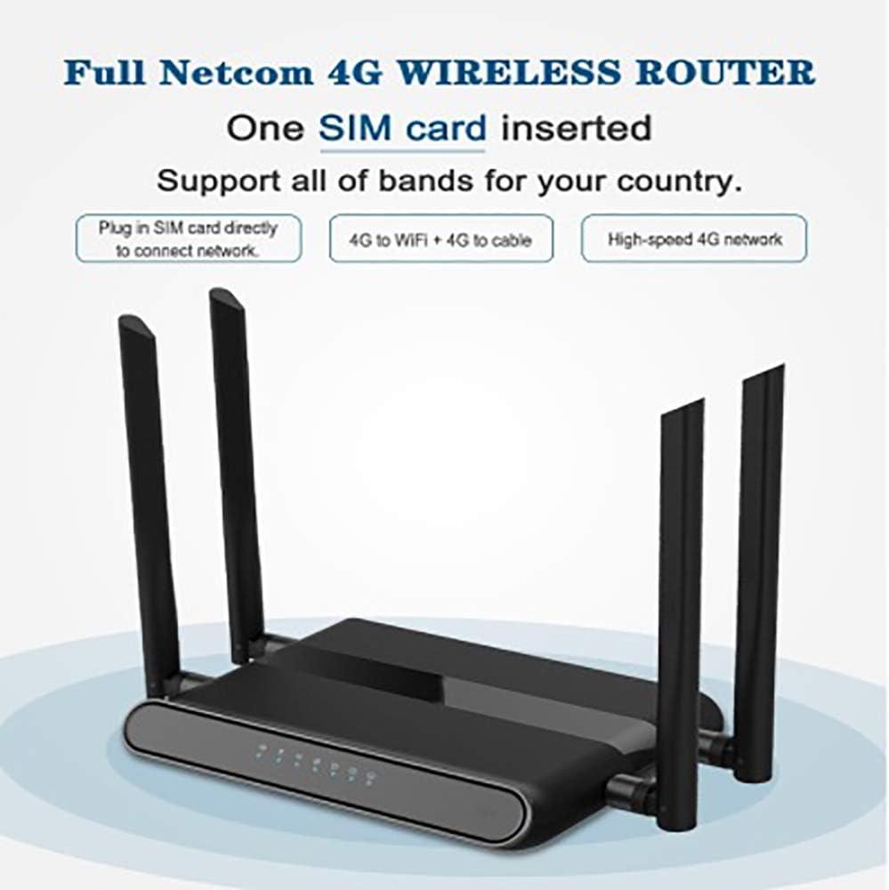 Guest Network 4 External Antennas Dual Band Gigabit Router,300Mbps at 5GHz Black GuangXin Wireless Router