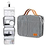 Hanging Travel Toiletry Bag,Large Capacity Cosmetic Toiletry Travel Organizer for Women/Men with 4 Compartments & 1 Sturdy Hook,Perfect for Travel/Daily Use