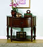 Console Cabinet Coaster Storage Entry Way Console Table/Hall Table, Brown Finish