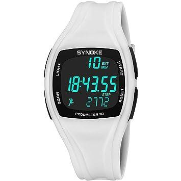 b7731d6448c9 MD Reloj Digital para Hombre De Color Negro Reloj LED Reloj Deportivo  Deportivo A Prueba De Agua Reloj para Niño Al Aire Libre Reloj  Despertador