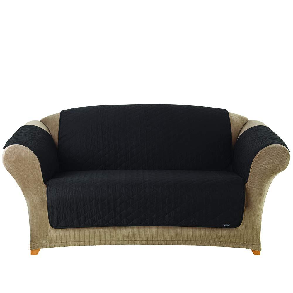 Brilliant Surefit Furniture Friend Pet Throw Loveseat Slipcover Black Interior Design Ideas Ghosoteloinfo