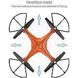 Remote Contorl Drone, COOL99 X10 2.4Ghz Quadcopter Camera WIFI FPV Headless Mode Altitude Hold RC (Orange)