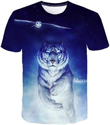 Águila Tigre Animal Nocturna Camiseta Estampada En 3D con ...
