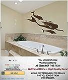 Wall Decals Sea Ocean Mermaid Dolphin Decal Vinyl Sticker Bathroom Nursery Home Decor Art Mural Ms696