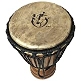 Hand-carved-Djembe-Drum-from-Africa-9x-18-Child-Youth-Size