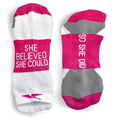 Inspirational Athletic Running Socks | Women's Woven Low Cut | Inspirational Slogans | Over 15 Styles