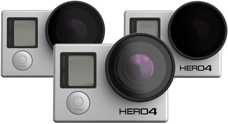 PolarPro Frame2.0 PFV Quadcopter Filter 3-Pack for GoPro 4//3+//3