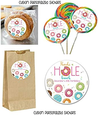 Amazon.com: 12 Donut Holes Jumbo Pegatinas para Lollipops ...
