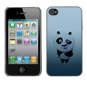Apple iPhone 4 / iPhone 4S / 4S , Radio-Star - Cáscara Funda Case Caso De Plástico (Cute Panda Bear Illustration)