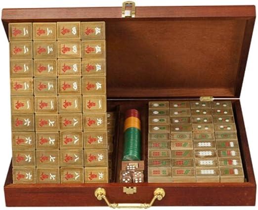 ZLJ Sándalo Verde Mahjong Colecciones Antiguas Inicio Ocio Entretenimiento Juguetes Caja de Madera de Cinco Capas Mahjong Mat Mah Jong (Edition : A): Amazon.es: Hogar