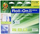 Duck 00-09140 Indoor 5-Window Shrink Film Roll-On Kit, 62-by-200-Inch