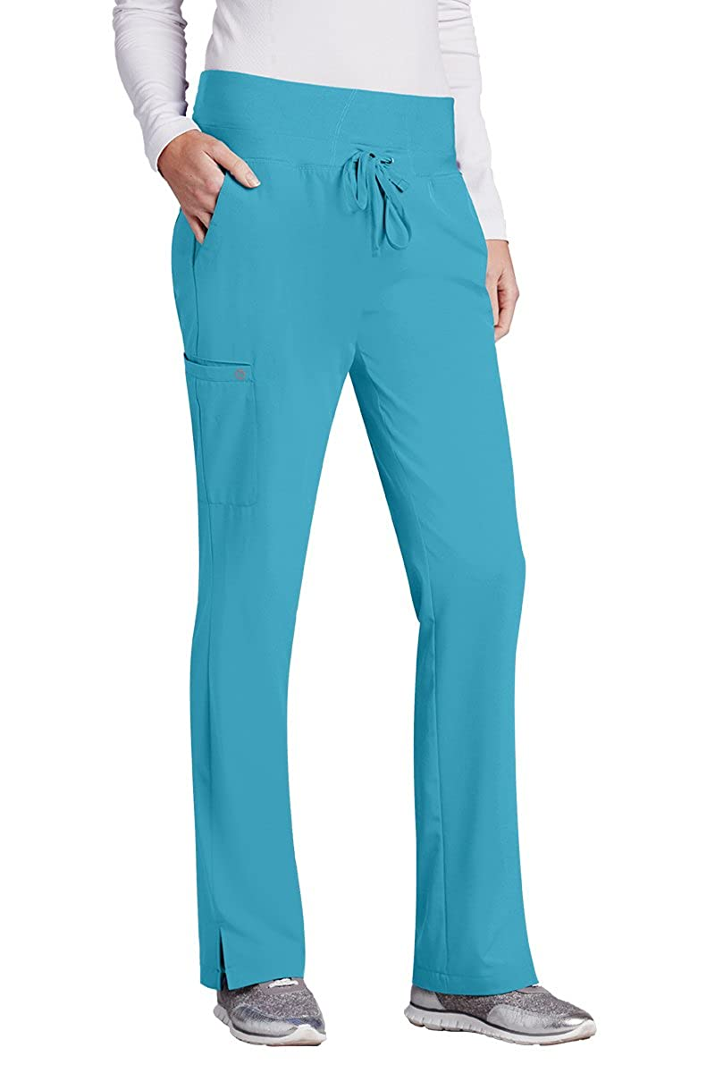 2d22161ba3a Amazon.com: Barco One Women's 5206 Mid Rise Flare Leg Knit Waist Scrub Pant-  Energy Blue- 2X-Large: Clothing