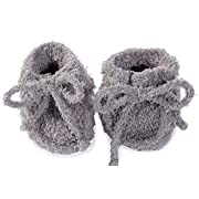 Baby Booties For Kids, The Cozychic Infant Booties Dove Gray Soft & Warm Prewalker Toddler For Baby -By Barefoot Dreams