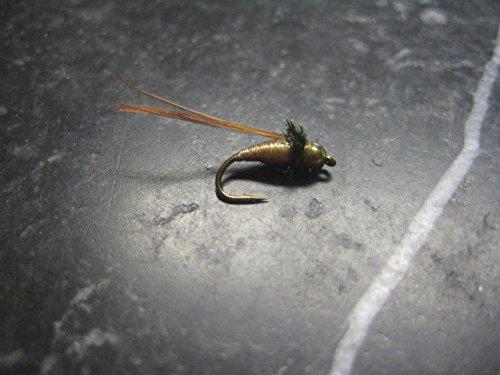 Bead Pupa Caddis (Fishing Sport Eq. BEAD HEAD CADDIS PUPA # 12 BROWN FLY FISHING FLIES, FLY FISHING LURES STRONG FISHING HOOK FLIES)