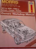 Haynes Austin Marina Owners Workshop Manual, 1971 Thru 1975, Haynes, J. H. and Chalmers-Hunt, R. L., 0856964891