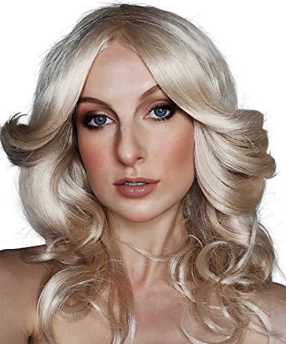 Charlies Angels Halloween Costume (ALLAURA 70s Costumes Wig Women Blonde Feathered Wigs Disco Costume for 70's Big Blond)