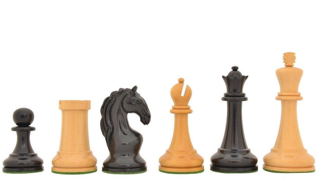 【ギフト】 Chessbazaar Chess Reproduced 1963-1966 Piatigorsky Cup Chess Set in Piatigorsky Ebony// Box Wood - 4.2