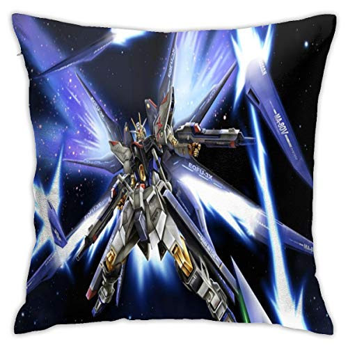 Teri?D?Deas Gundam Seed Anime Style Home Square Comfort Pillowcase (18x18 Inch) Pillowcase