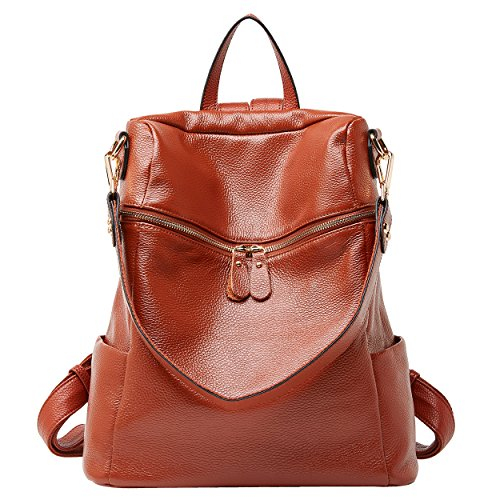 - BOYATU Convertible Genuine Leather Backpack Purse for Women Fashion Travel Bag (11.8