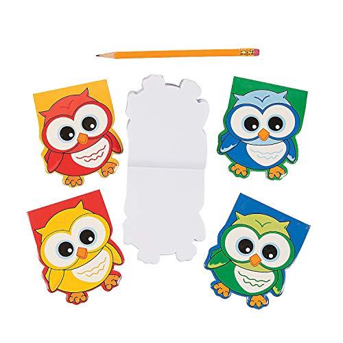 Fun Express Owl-Shaped Notepads - 24 ct -