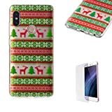 For Xiaomi Redmi Note 5 Pro Case [with Free Screen Protector],Funyee Creative Christmas Series Ultra Thin Transparent Soft TPU Silicone Case Anti Scratch Durable Shell Smart Case For Xiaomi Redmi Note 5 Pro,Tribe Elk