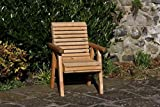 Wooden Garden Chair/Furniture/Patio Set High Back Roll Top