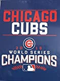 MLB Baseball Chicago Cubs World Champions Twin Size Plush Throw Blanket - 60 x 80 Inches