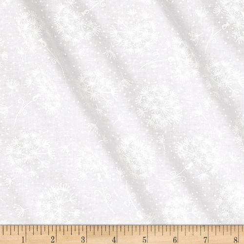 Santee Print Works Tone Dots & Flowers White Fabric by The Yard