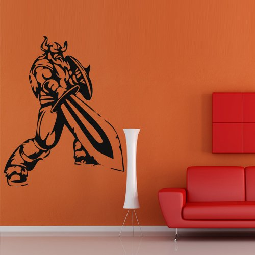 Wall Decal Sticker Vinyl Viking Knight Sword Room Armor Room M460