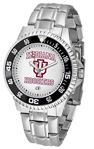 (Indiana University Hoosiers Men's Stainless Steel Watch)