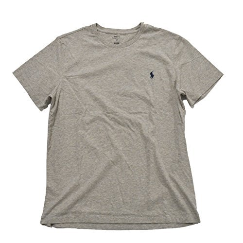 Polo Ralph Lauren Mens Custom Fit T-shirt Crew Neck (L, New Gray Heather) (Custom Fit Polo)