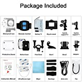 4k WIFI Sports Action Camera, SOOCOO C30R Action Camera Waterproof 20MP 170 Degree Wide Angle Sports Video Camera 2 LCD Screen/2.4G Remote Control/2x1350mAh Batteries-Black(Micro SD Card Not Included)