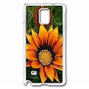 Bright Flower Custom Back Phone Case for Samsung Galaxy Note 4 PC Material Transparent -1210456 WANGJING JINDA