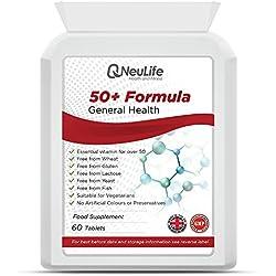 50+ Formula (cura della salute e del benessere per gli over 50) - 60 Compresse - Neulife salute e Fitness