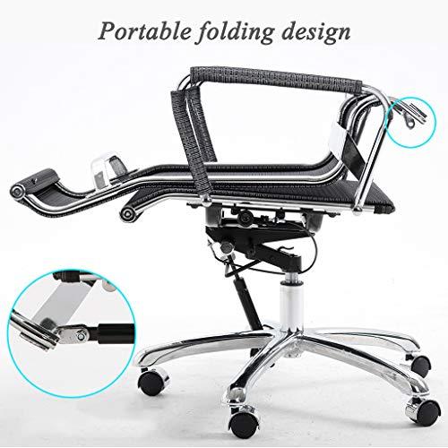 Ergonomisk svängbara kontorsstolar verkställande datorstol bärbar vikbar design 135 graders lutningsfunktion maxvikt kapacitet 150 kg