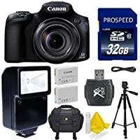 Canon PowerShot SX60 HS Digital Camera + Accessory Bundle - International Version