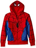 Marvel Little Boys' Spiderman Mask Costume Hoodie, Red, M-5/6