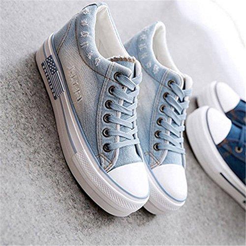 Chaussures Plate Occasionnels Confortable NGRDX Femme Forme Chaussures De Up Toile Mode Femmes Chaussures Nouvelles Femme amp;G De L'Été Baskets Ybt994 De Chers Lace De Loisirs 7qRgH7