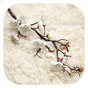 mamamoo Artificial Silk Fake Flowers Plum Blossom Floral Wedding Bouquet Home Party Decor Mariage Fake Flower 63