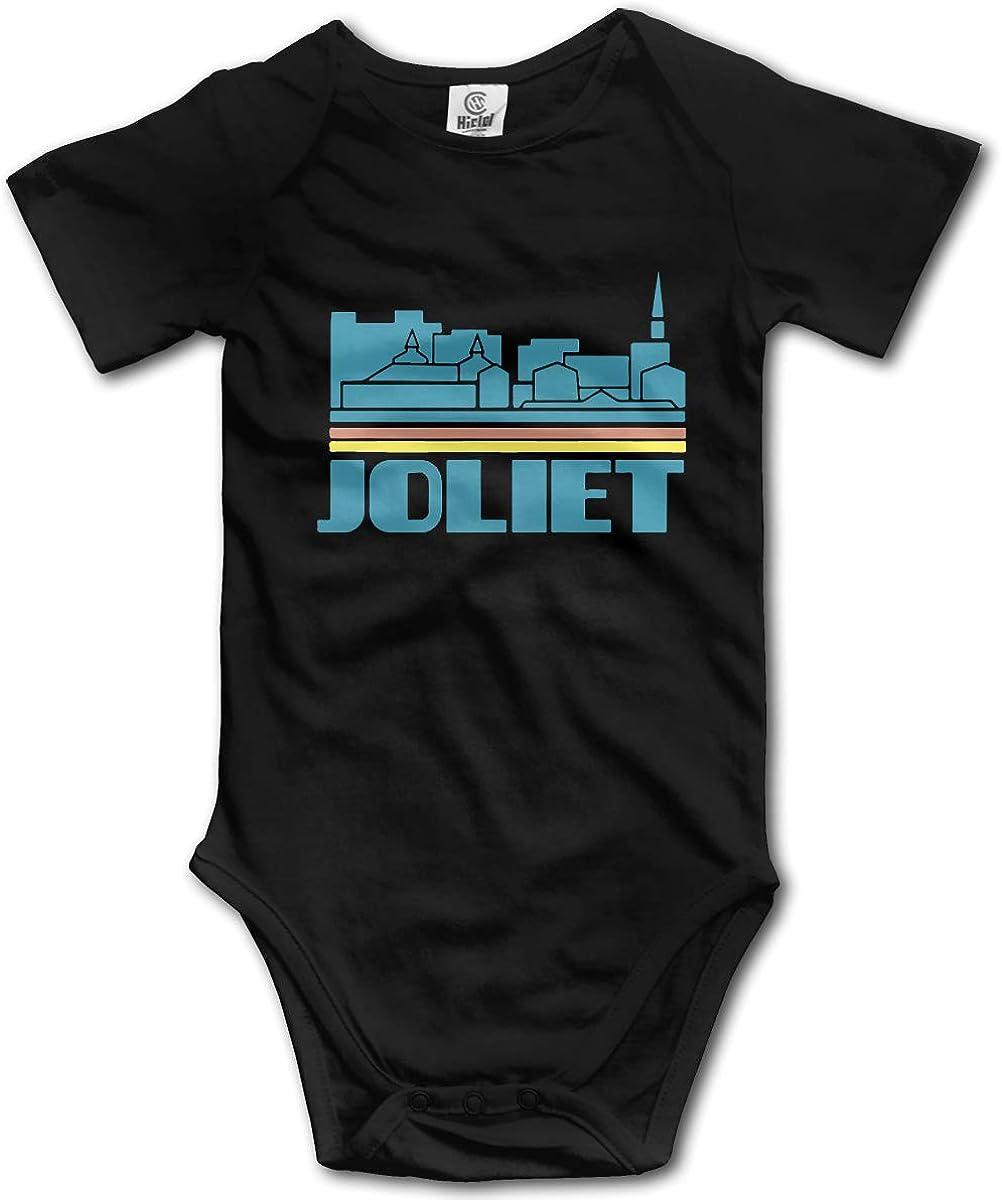 CDHL99 Joliet City Skyline Newborn Girls /& Boys Short Sleeve One-Piece Coverall 0-24M
