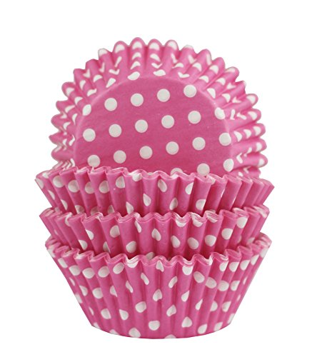 Baking Cups, Cupcake Liners, Birthday Party, Standard Size, Pack of 100 (Pink Polka Dots) -