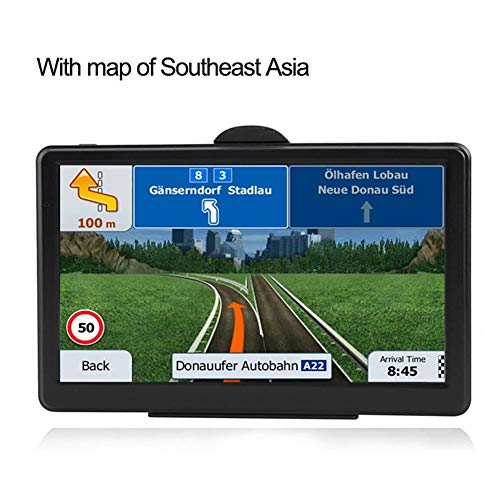 (Calmson 7-inch Touch Screen GPS Car Navigation System RAM256M+ROM8GB FM AV-in SAT NAV with Free Map, USB Connection, 3D Navigation, Support for Multiple Languages(with Southeast Asia map))