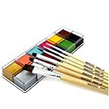 Body Face Paint With Brush 12 Color Pigment Oil Painting Art use in Halloween Party Fancy Dress Beauty Makeup Tool (1)