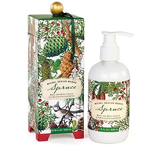Design Body Lotion - Michel Design Works Hand and Body Lotion, 8-Ounce, Spruce